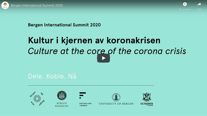 Bergen International Summit: Culture at the core of the corona crisis teaser